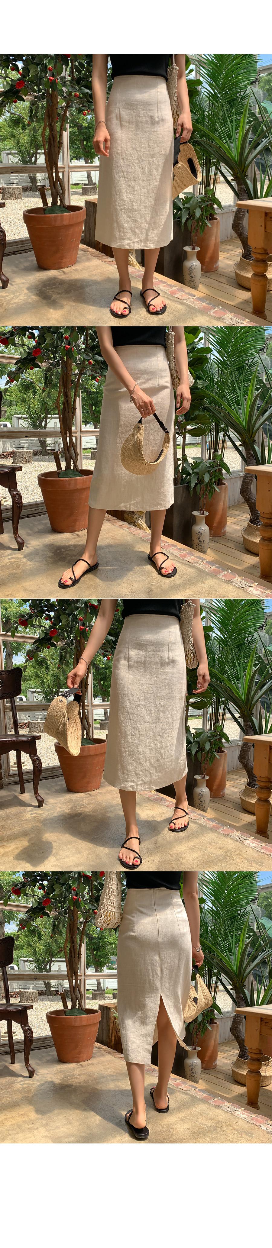 Oregano linen skirt