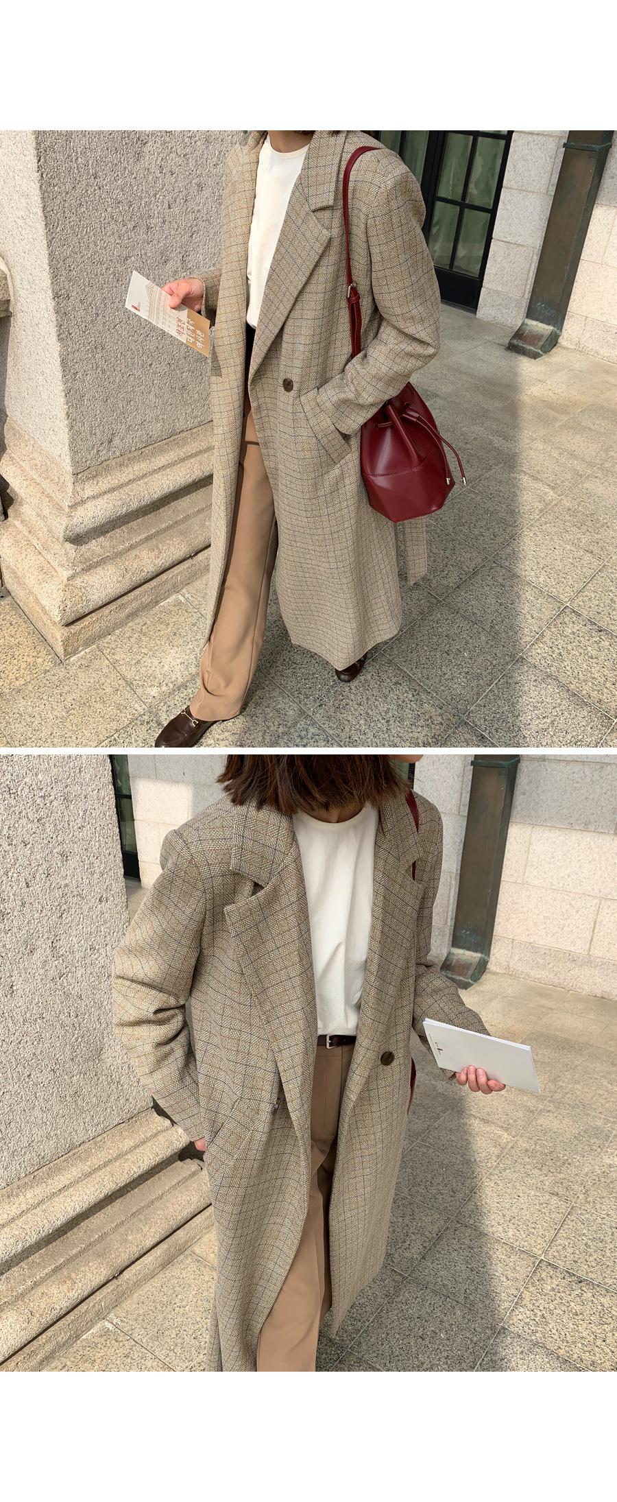 Long Check Jacket