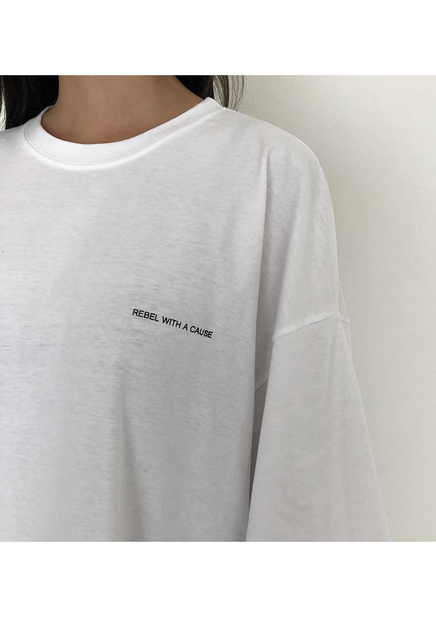 박시핏 맨투맨 티셔츠
