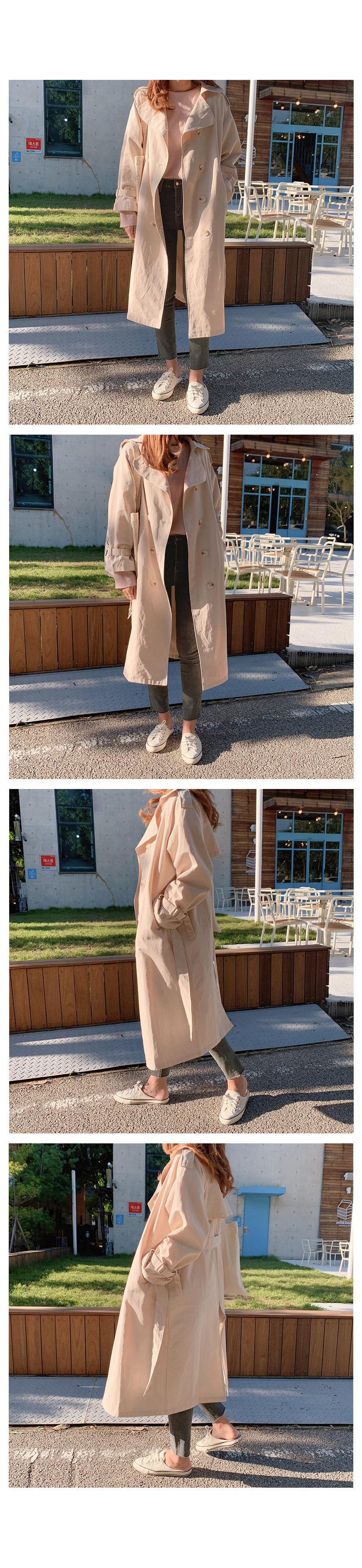 Thank You ♥ Autumn Double Trench Coat-2color