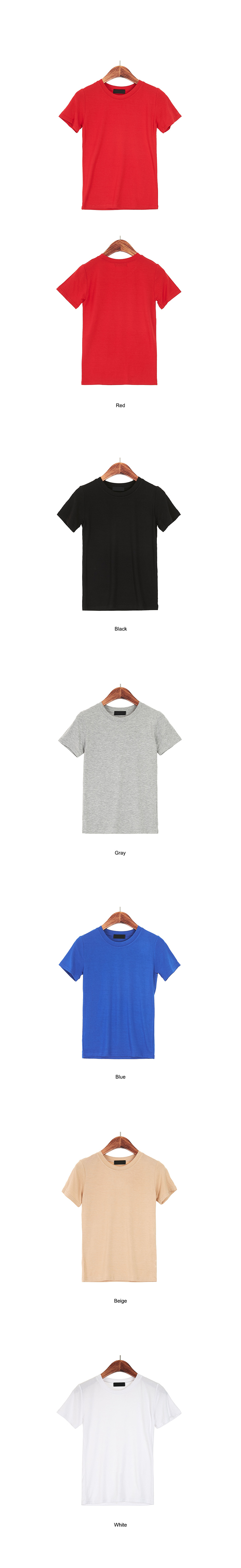 Simple Round Neck Short Sleeve Polo Shirt