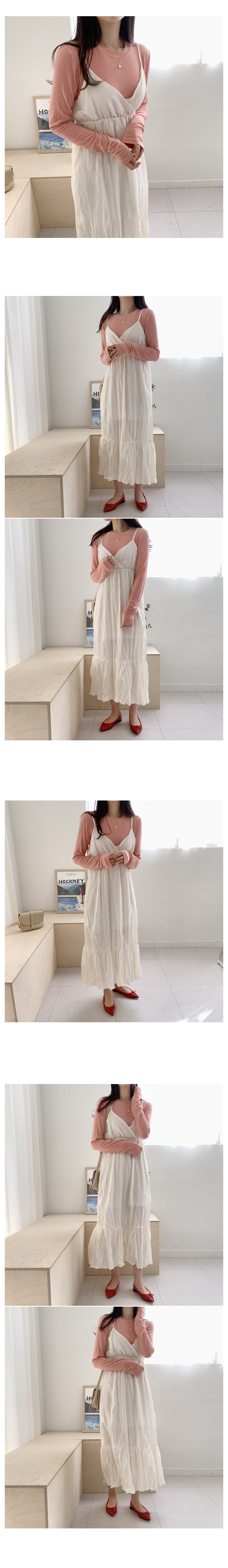 Pony wrinkle long dress