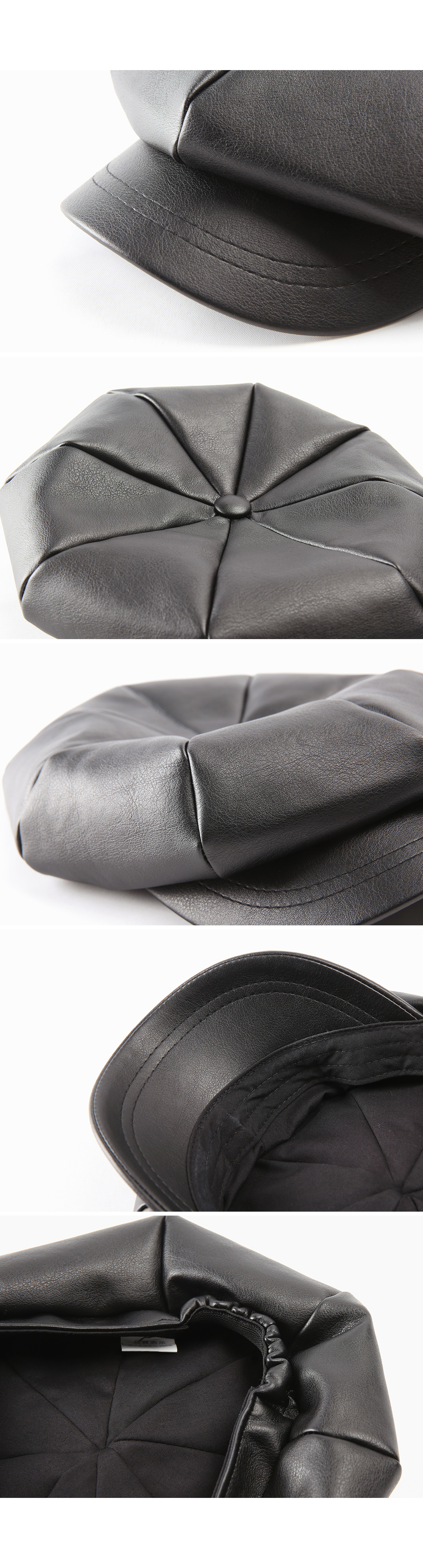 hard leather hunting cap