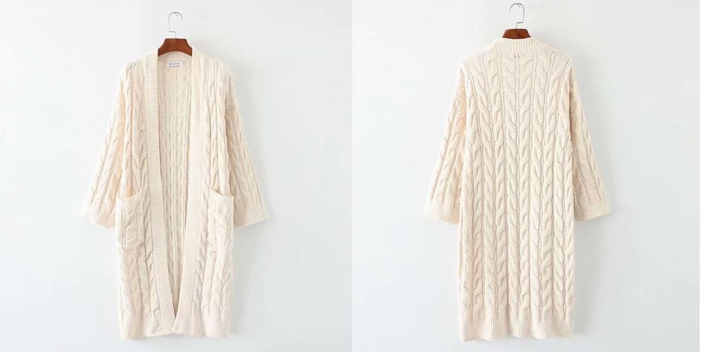 Soft twist long cardigan _cd02959