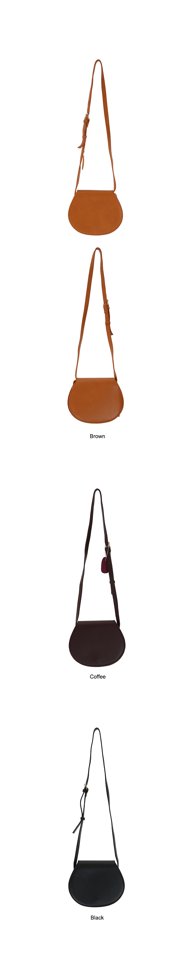 Half-circle cross bag