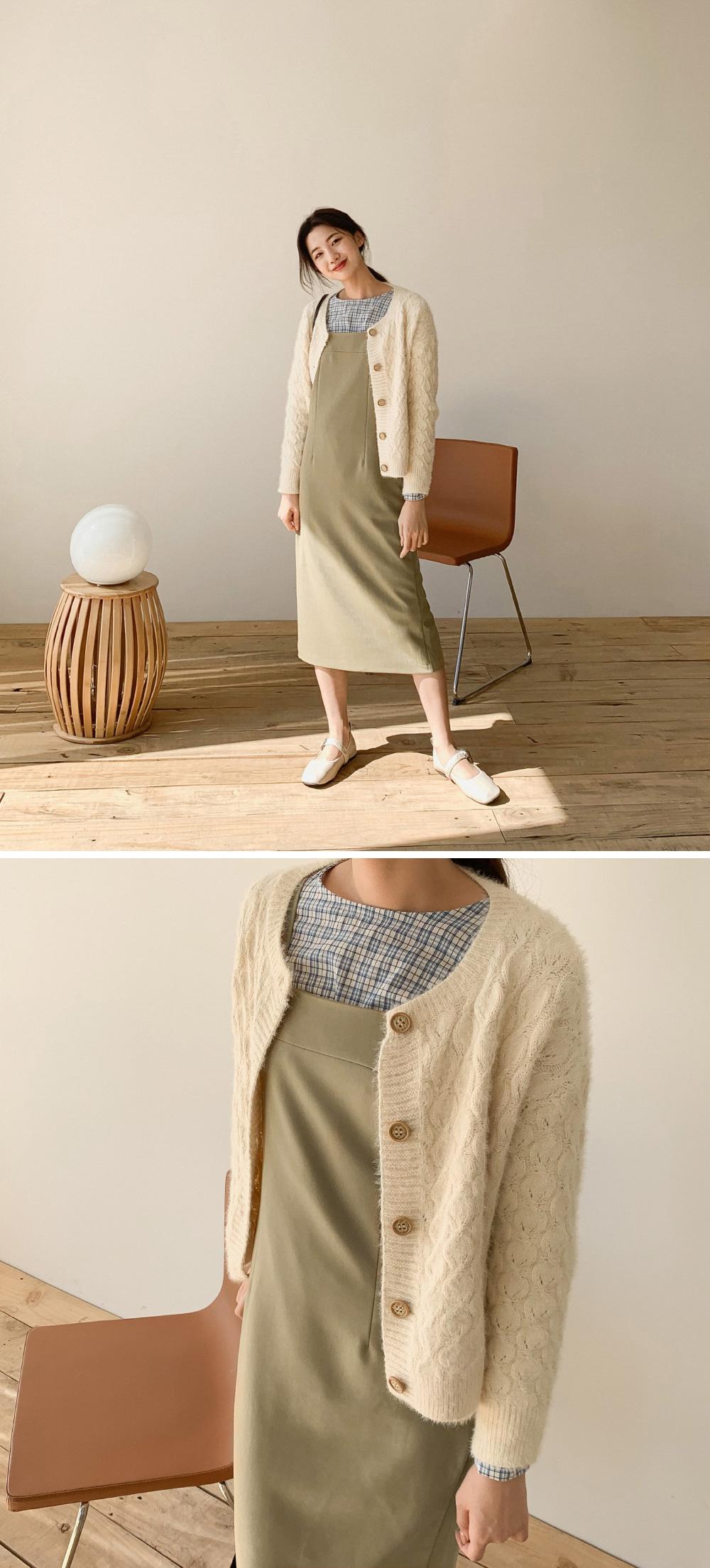 angora wool cardigan