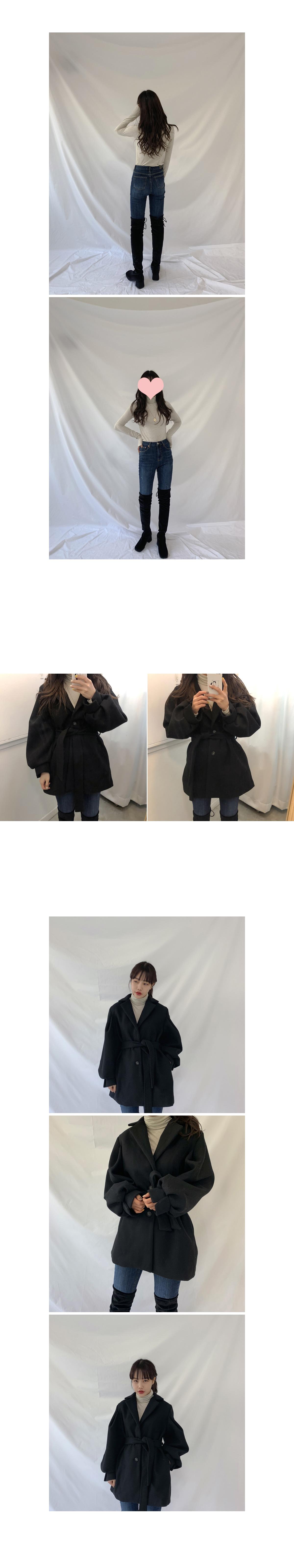 Puff belt coat
