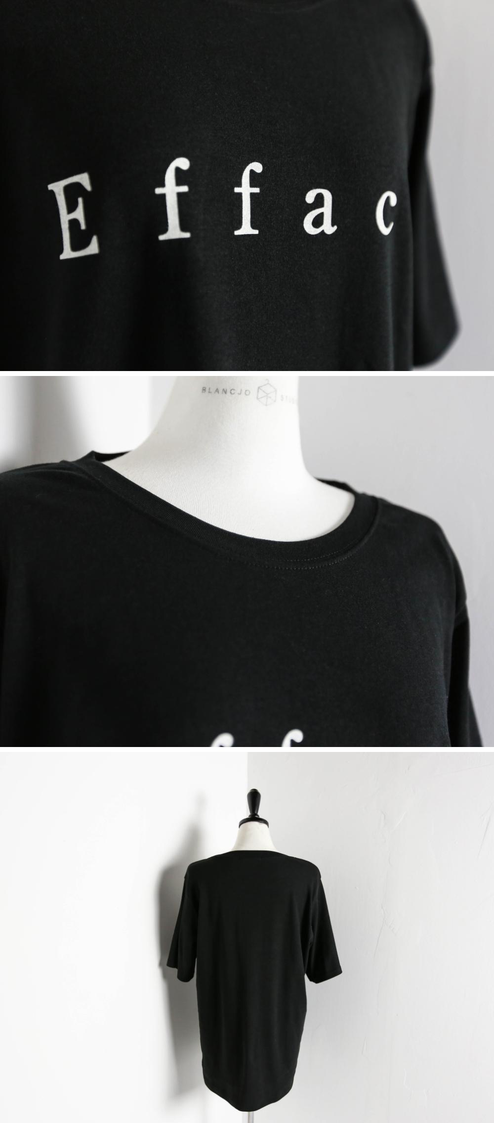 efface brushed round T-shirt_ts03376