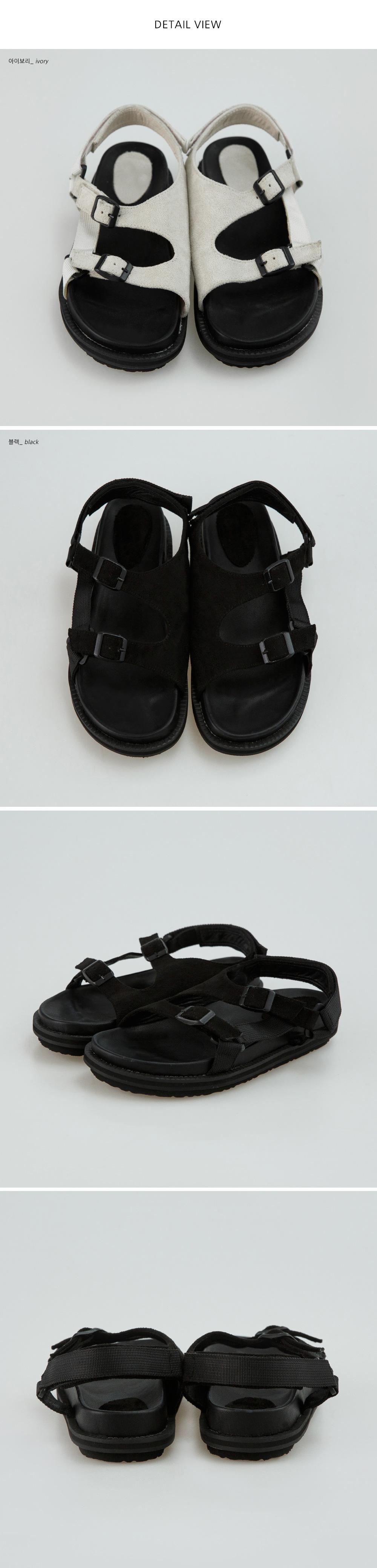 casual 2 buckle sandal