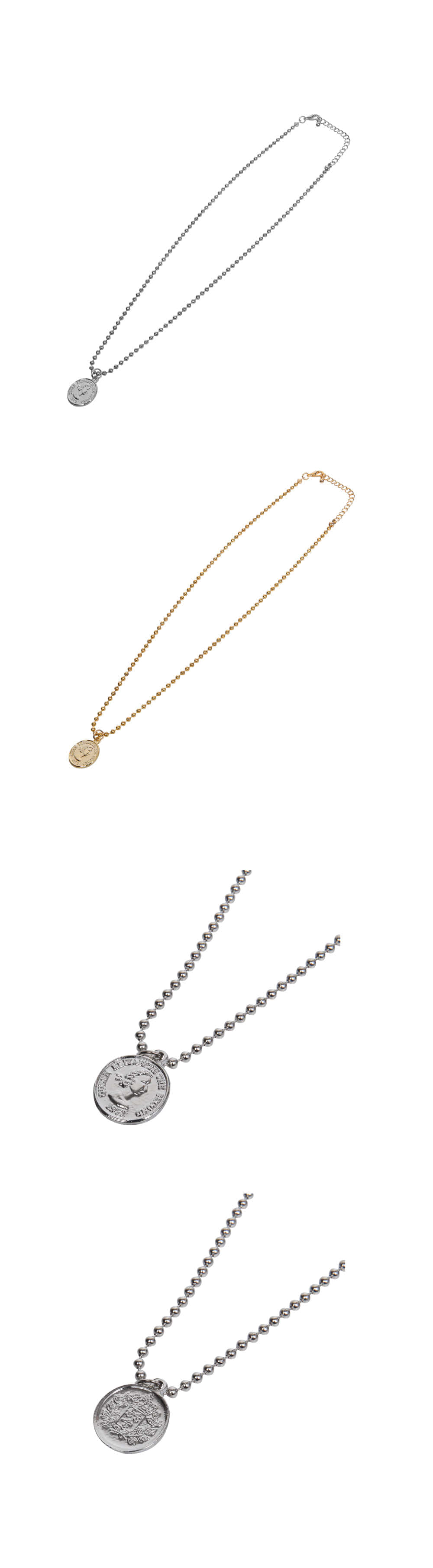coin spherical necklace (2 color)