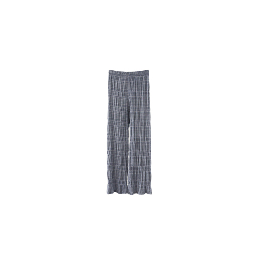 stripe crease texture pants