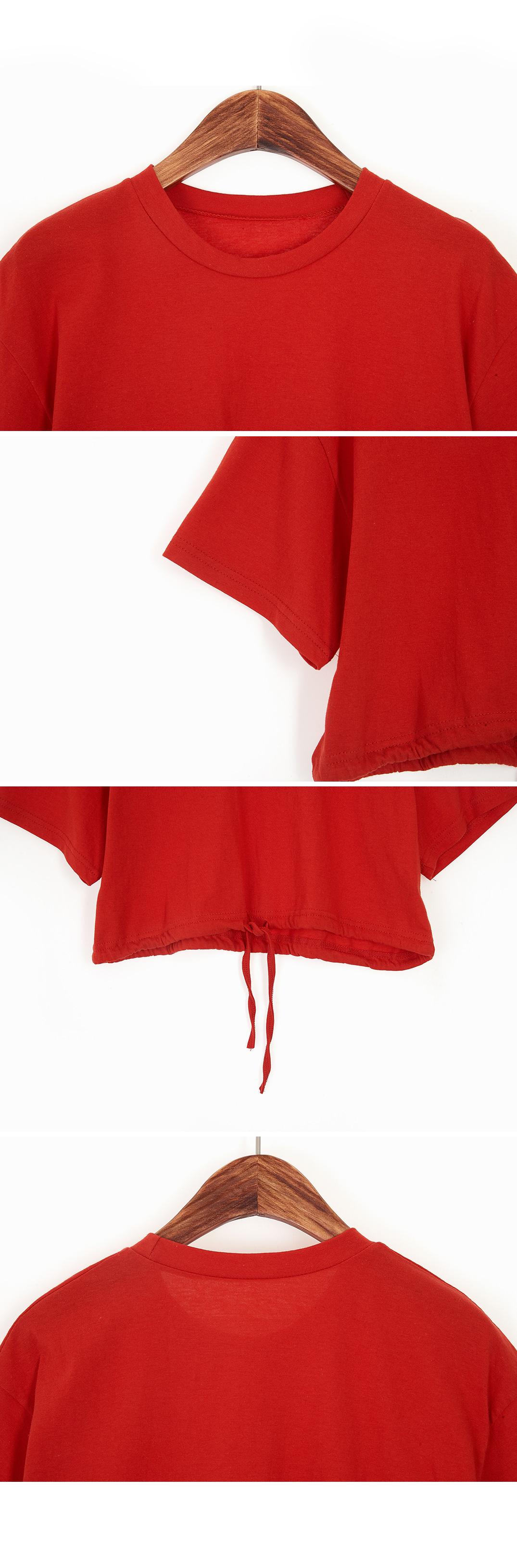 String crop t-shirt