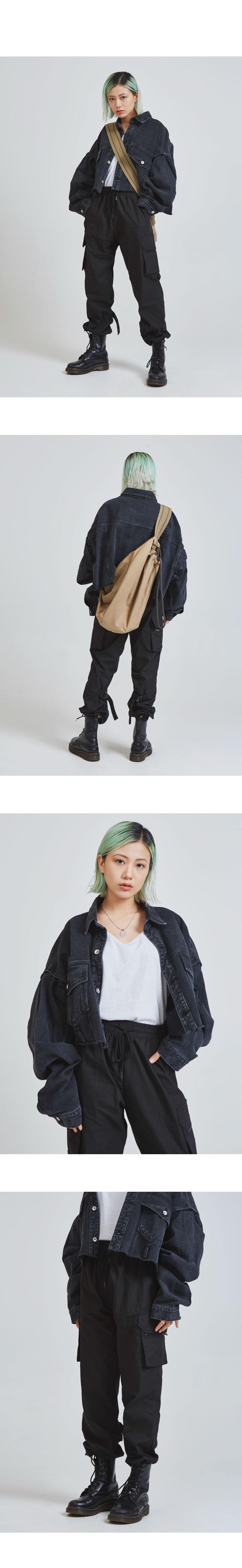 buckle cargo jogger pants (2 color) - UNISEX
