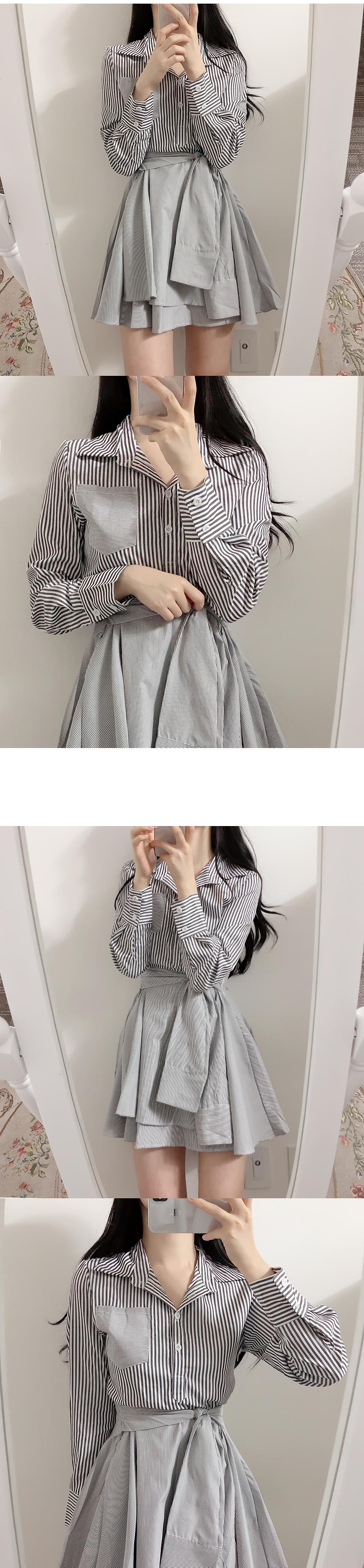 Street shirt collar dress