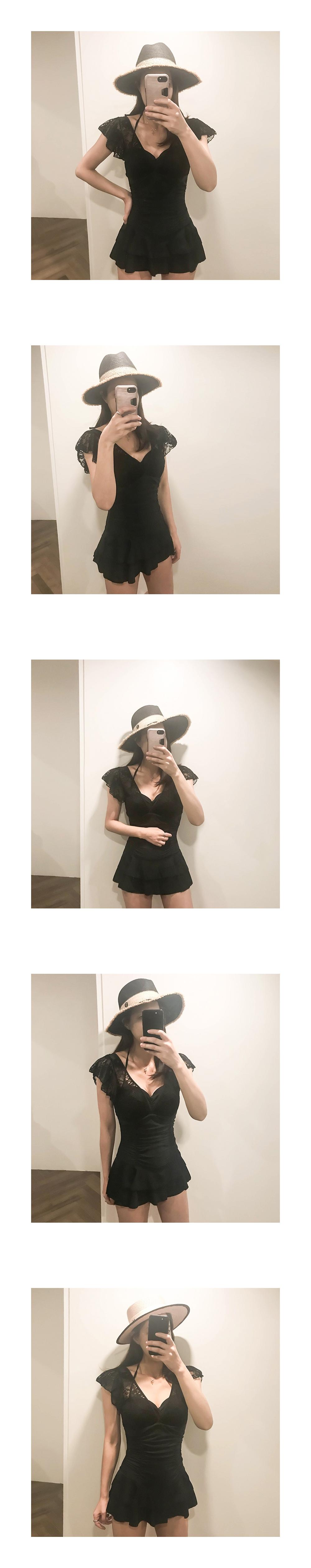 Lace ruffle dress Swimwear _SW03066