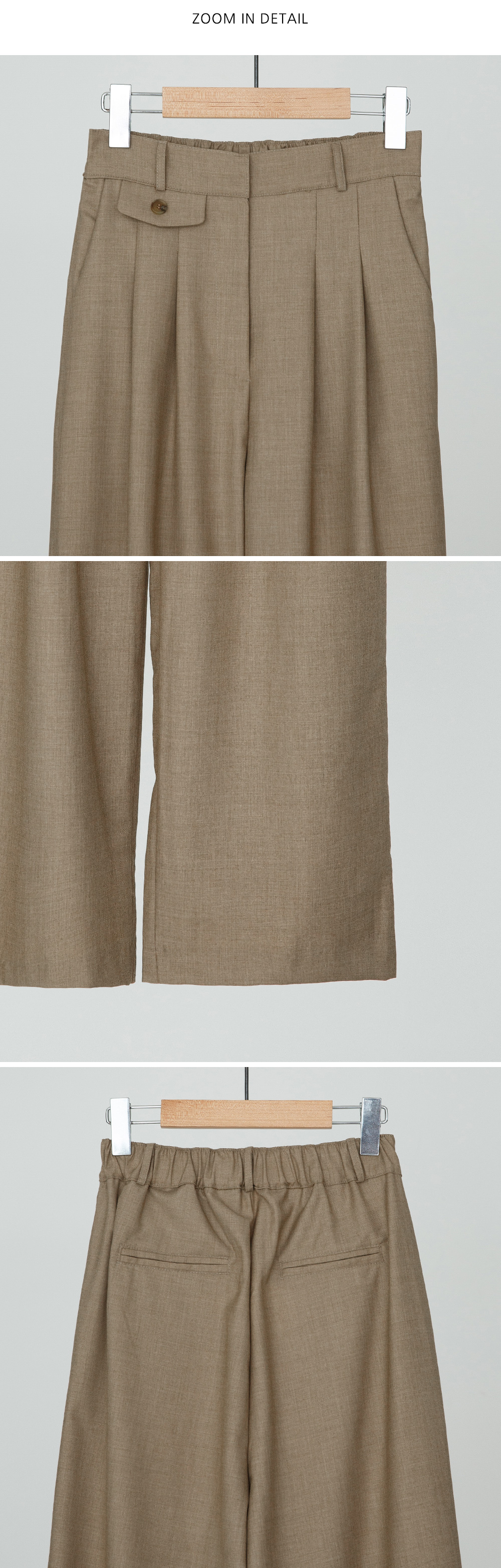 Mini Pocket Detail Banding Slacks
