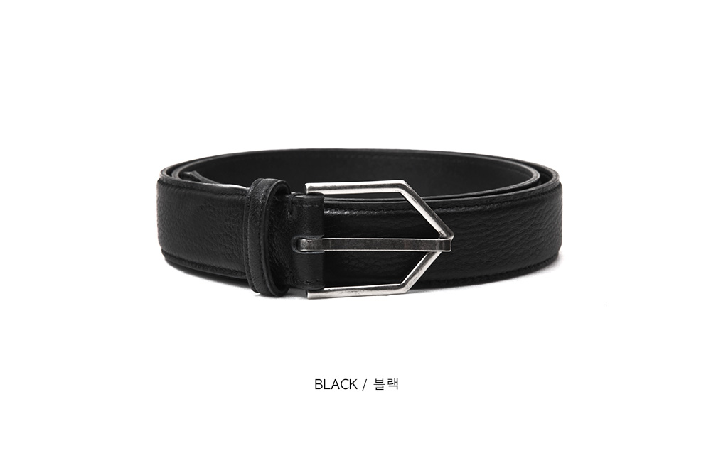 Y triangle cow hide belt