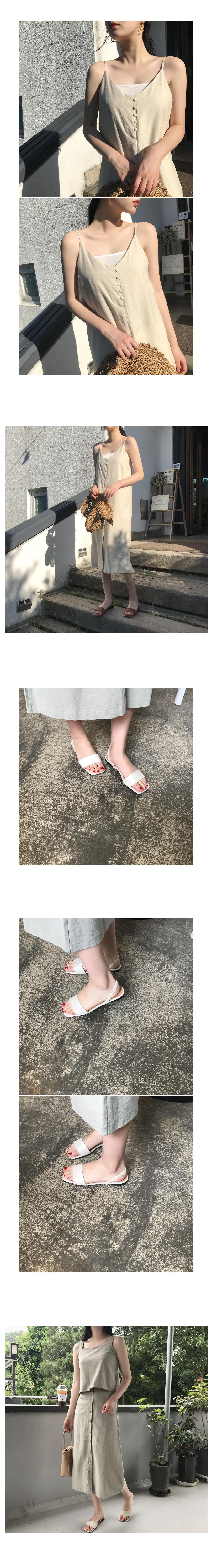 Simple Two-Way Sandals-Brown 240 / Beige 245