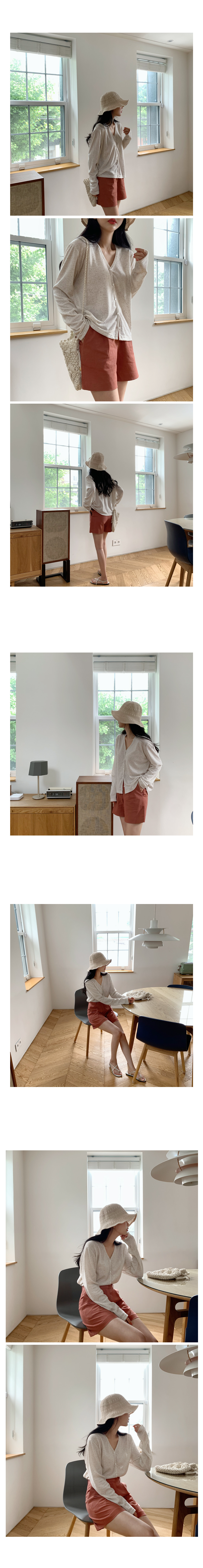 AED linen shorts