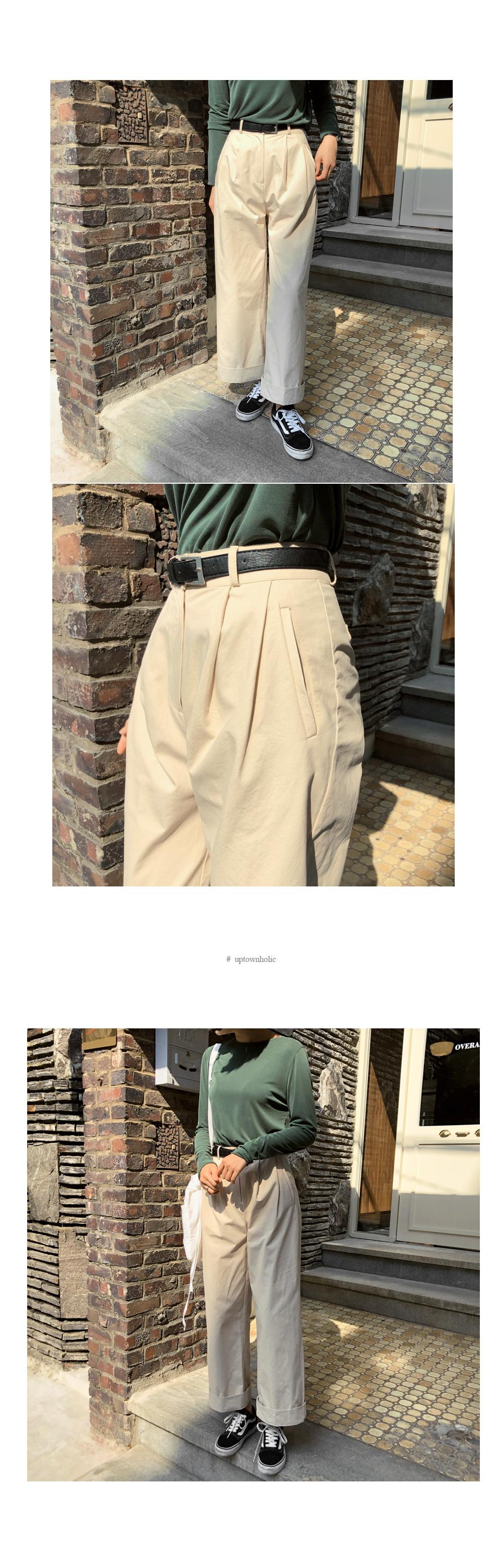 Pintuck bay pants beige sm ivory s