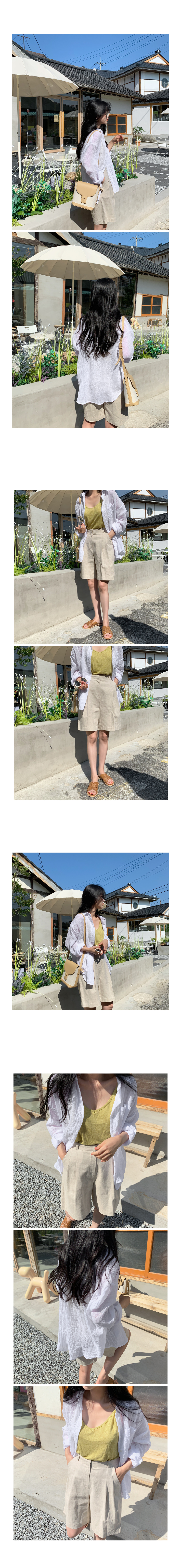 Inner Linen Part 5 Slacks-Oatmeal Beige Small Size