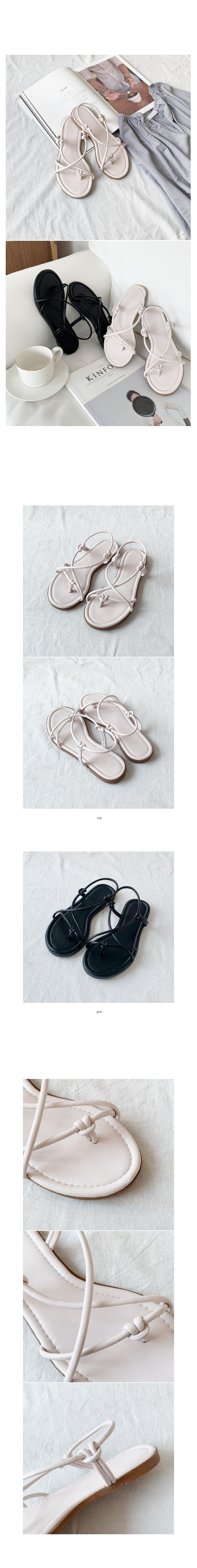 Clay strap sandals