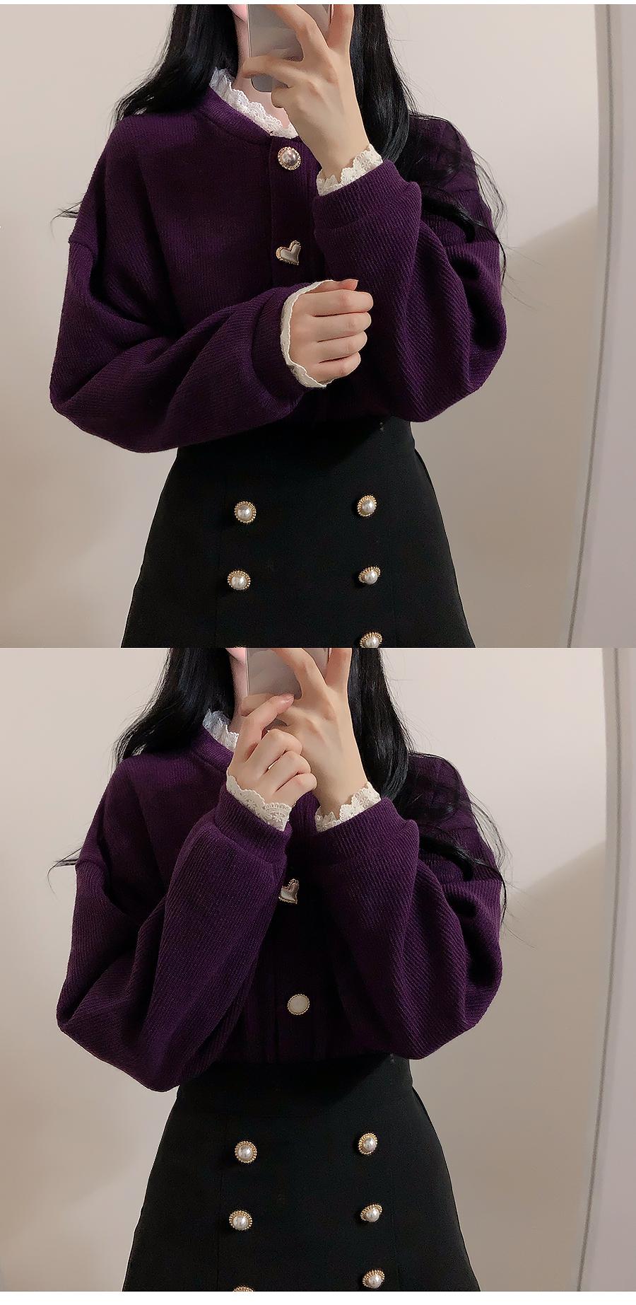 Hand-Made ♥ Life Jewelry Knit Cardigan