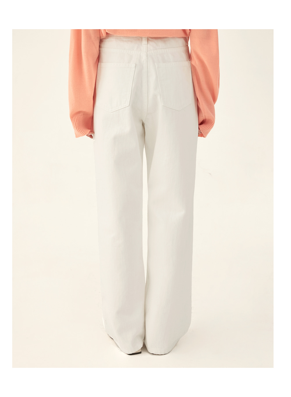 wolf straight cotton pants (s, m)