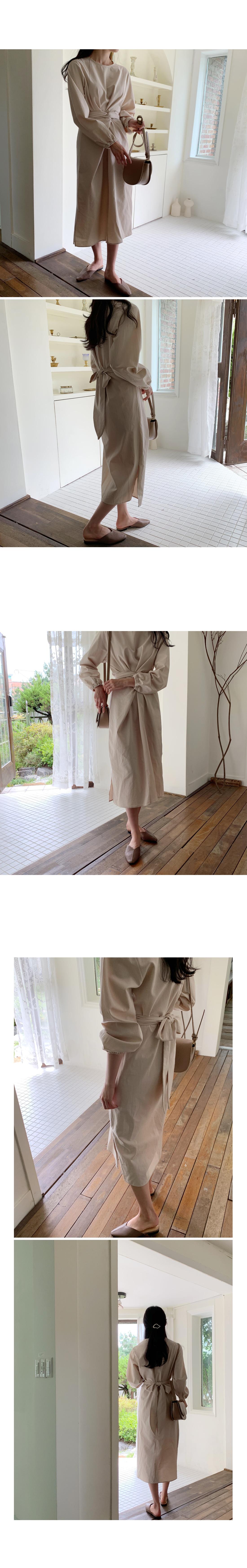 Twist Cotton Long Dress