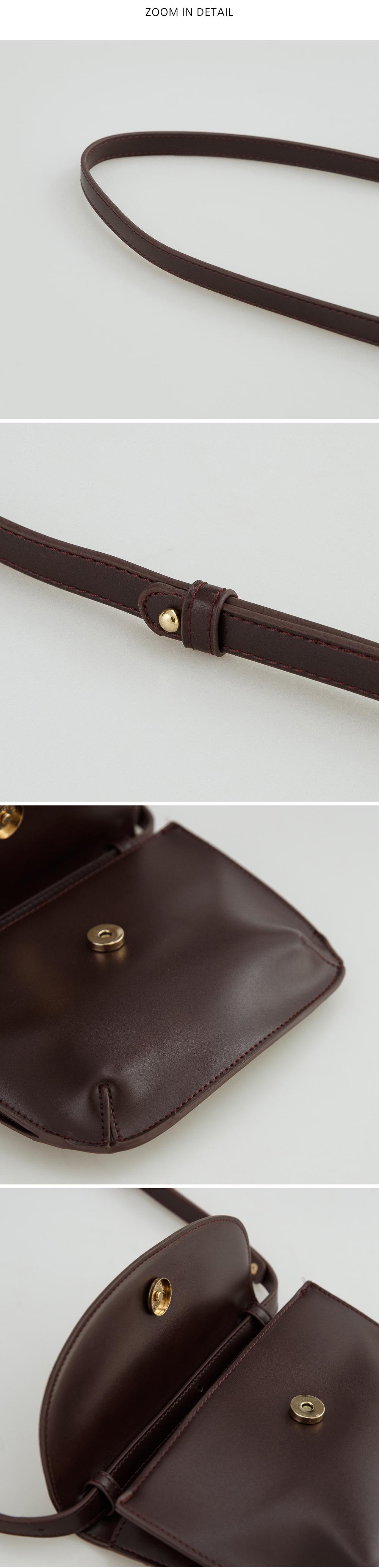 glossy square cross bag