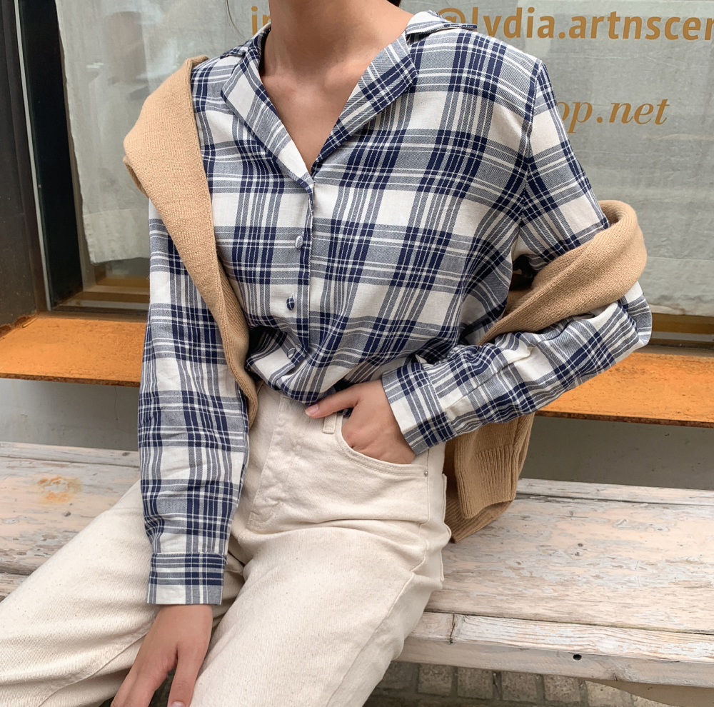 Natural hem-cut cotton pants-pt