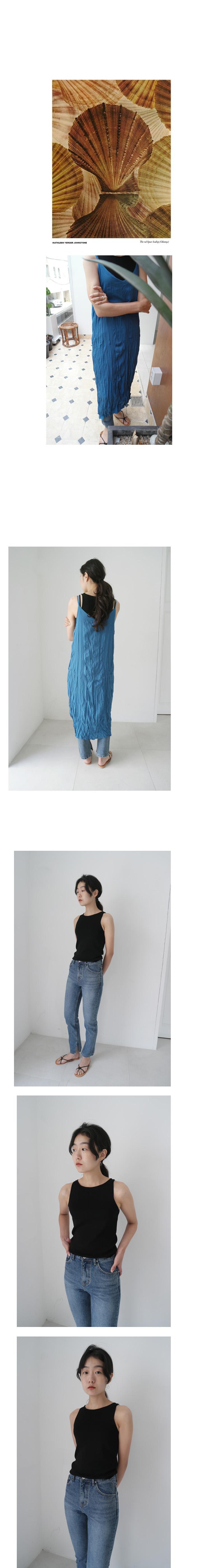 slit detail denim pants