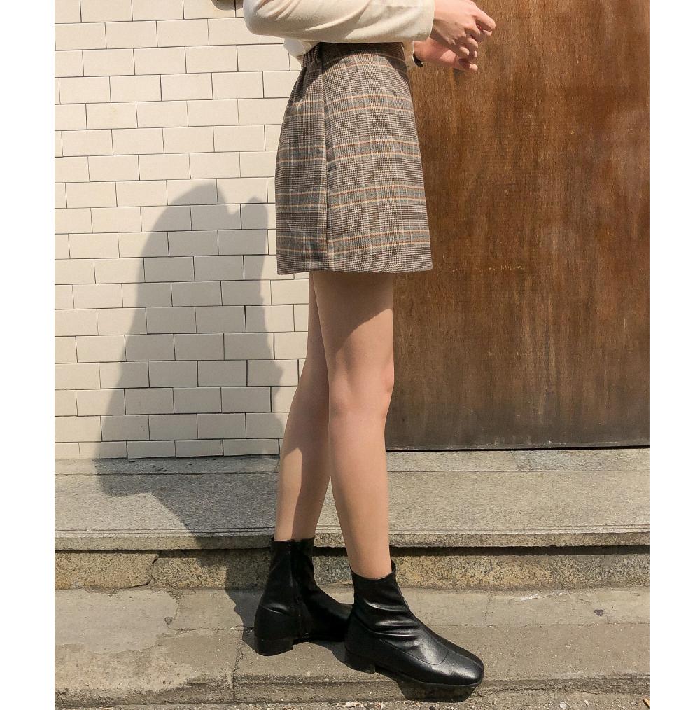 classy check mini skirt