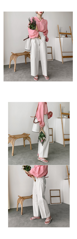Lily pin chin pants beige m