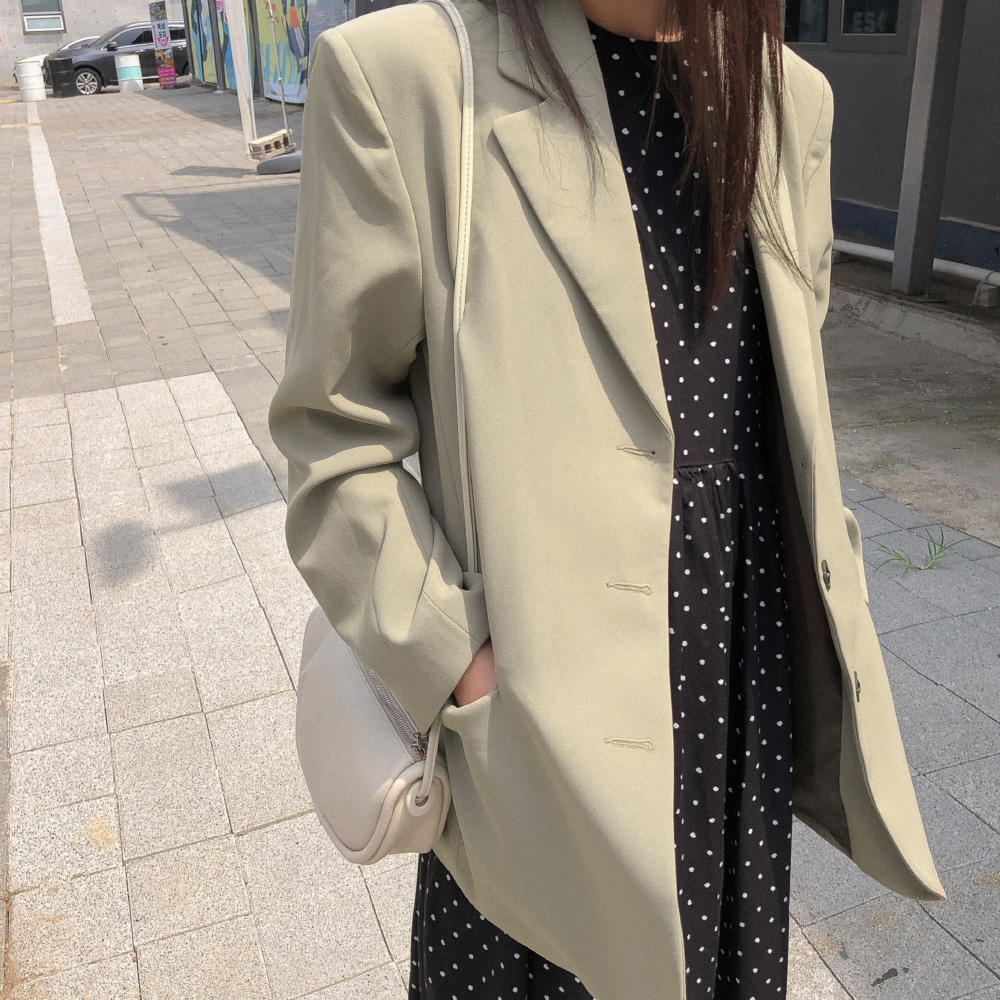 basic loose fit single jacket