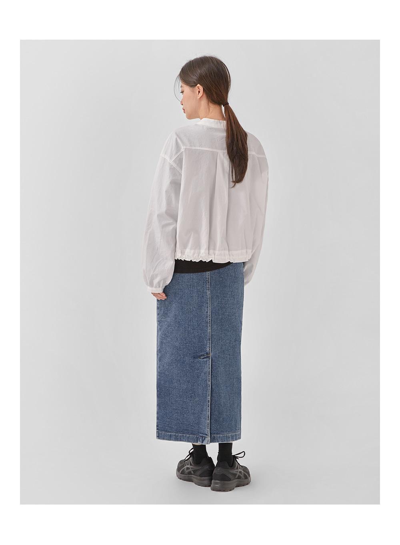 jenner denim long skirt