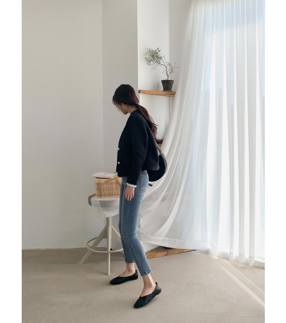 Half High Waist Slim Jeans-pt