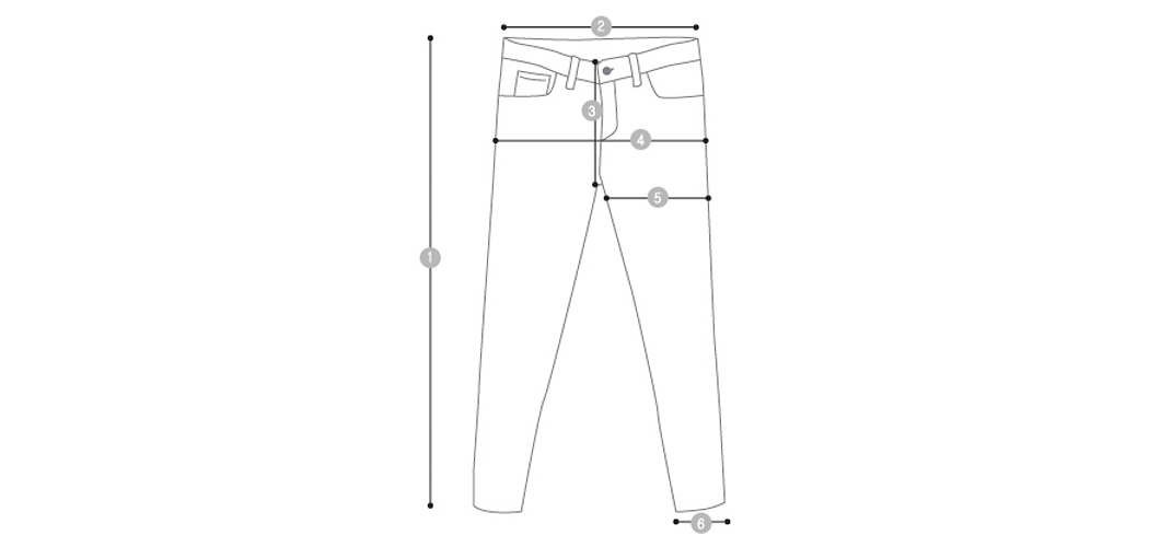Bigone-denim roll-up pants