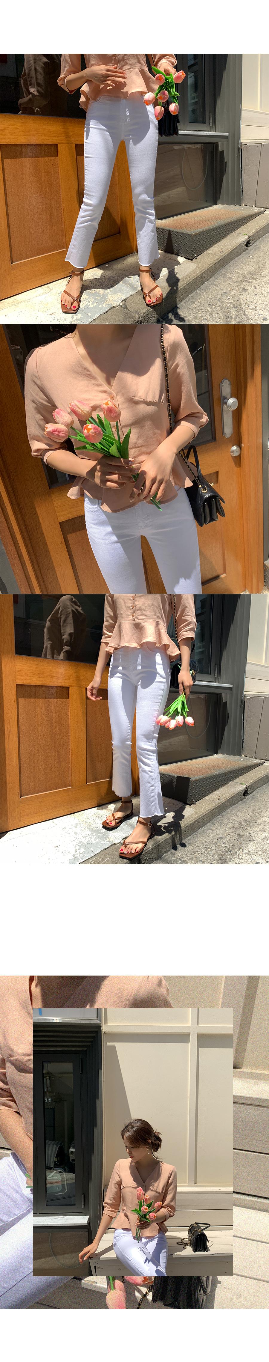 Ridget Date Banding Cotton Pants