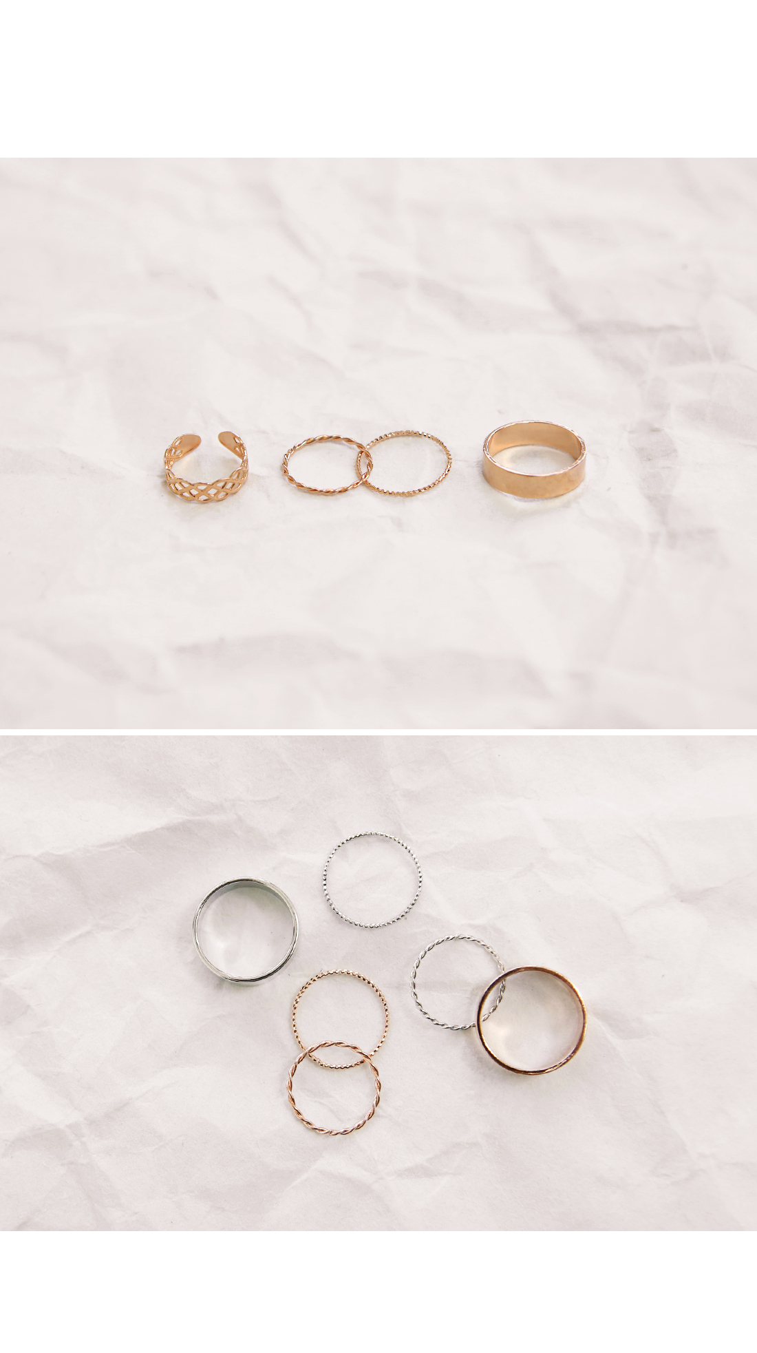 DAILY SIMPLE RING 4 SET