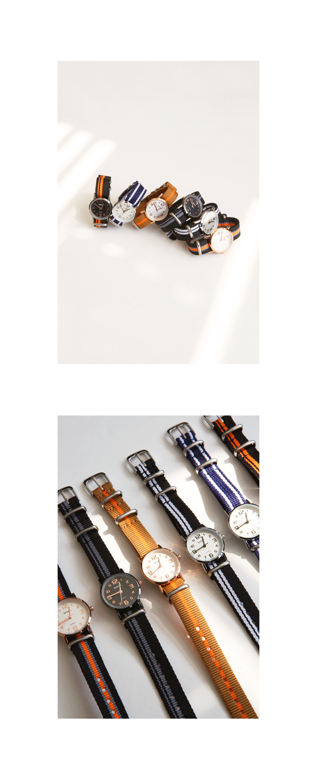 FABRIC BAND WATCH - 2 TYPE