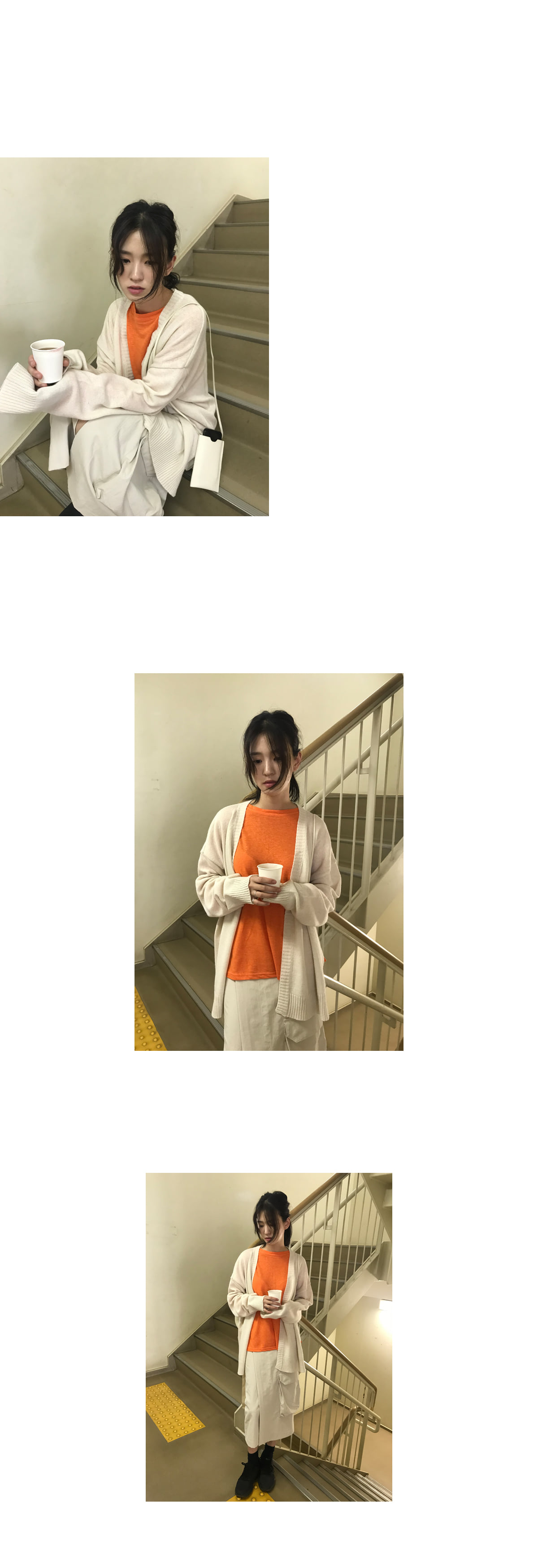 robe knit cardigan (4colors)