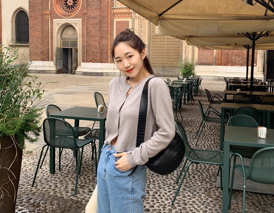 Libre mini cashmere cardigan_J (size : free)