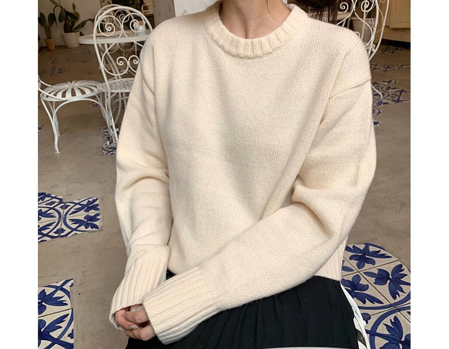 Berry round wool knit_U (size : free)