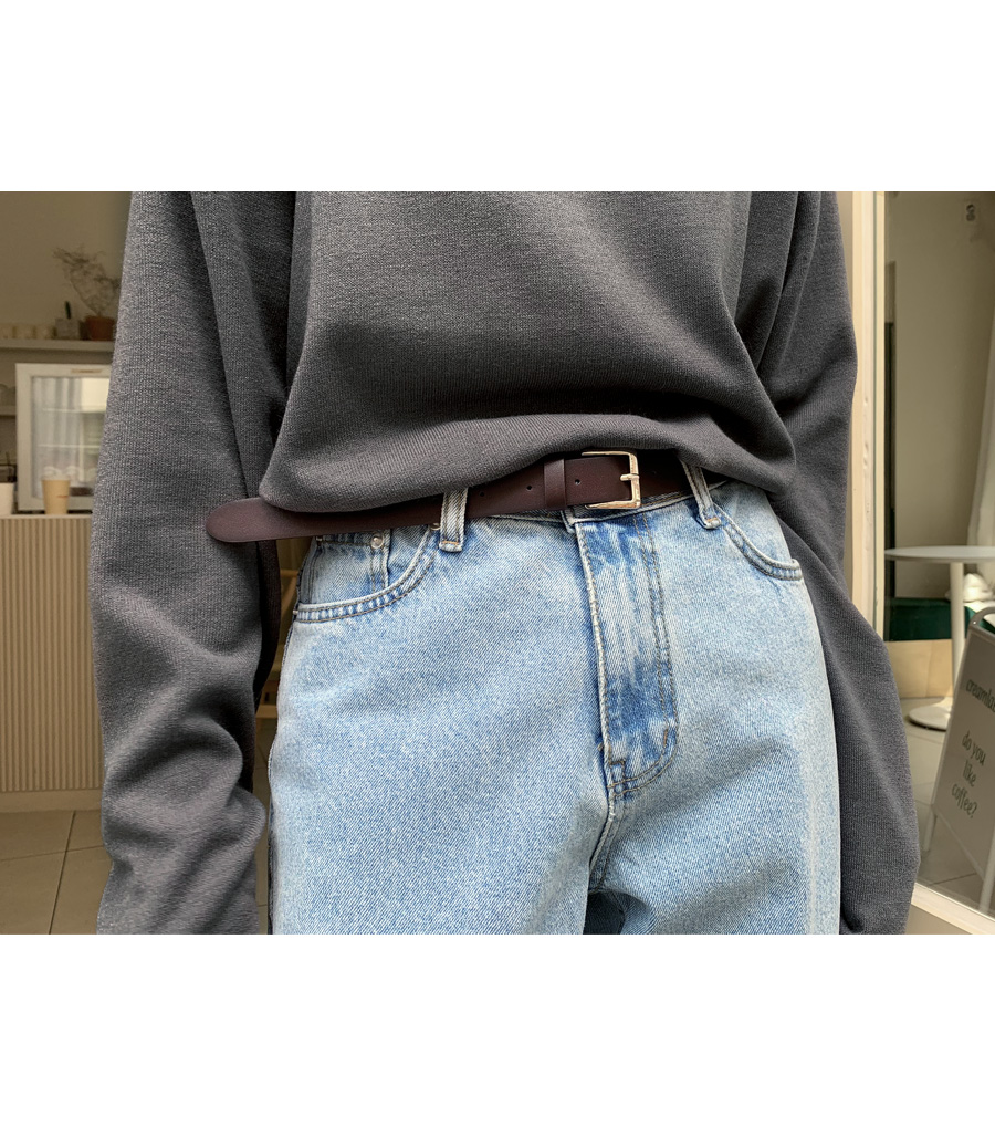 Bold leather belt