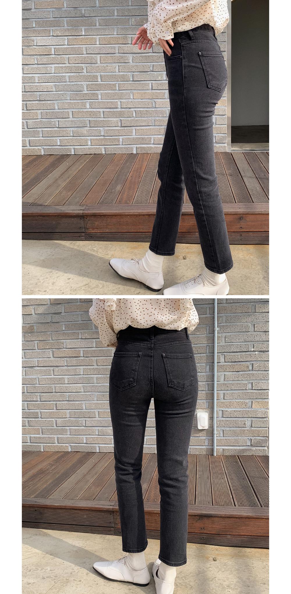 vintage black straight pants