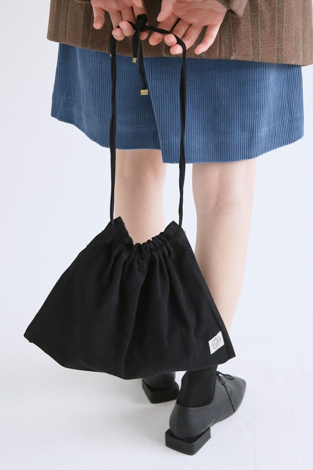 daily cotton bucket bag (2colors)