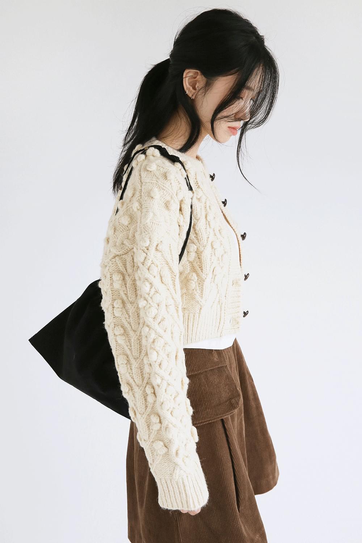 cutie crop twist knit cardigan