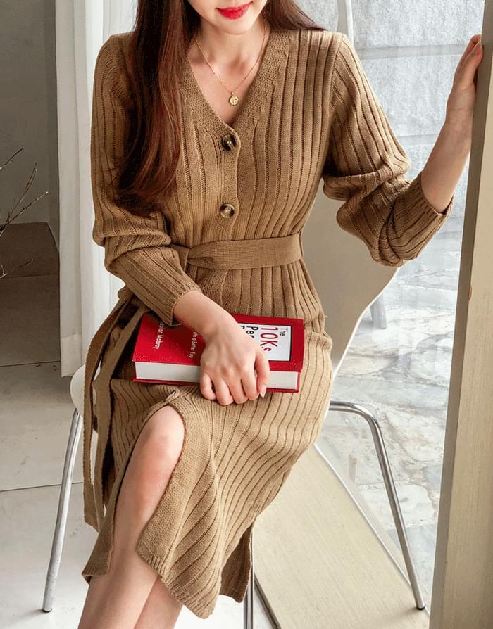 Sweet Knit Long Dress