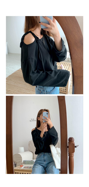 Linen Off Shoulder Berry T-shirt